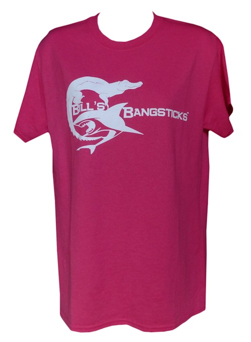Bill's Bangsticks Logo T-Shirt - Pink/White Logo