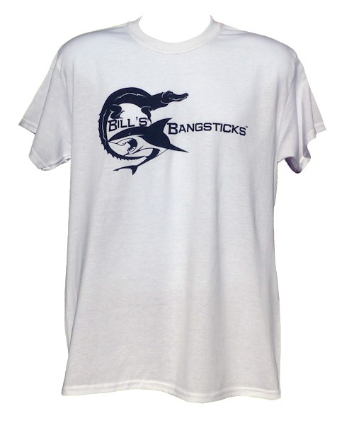 Bill's Bangsticks Logo T-Shirt - White/Navy Logo